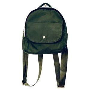 CHARMING CHARLIE | Mini Backpack Double Zip Green